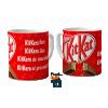 Caneca Romântica Chocolate Kit Kat - Porcelana 325ml