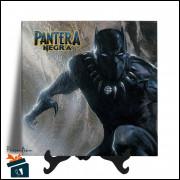 Quadro em Azulejo - Filme Pantera Negra - 20x20 - Modelo 01