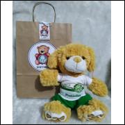 Ursinho de Pelúcia Palmeiras - Cãozinho Personalizado com Nome e Número e Embalagem Presenteável