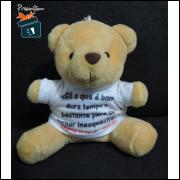 Mini Ursinho de Pelúcia/Chaveiro - Frase do Chorão - Grande