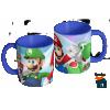 Caneca Mario Bros, Luigi e Yoshi - Caneca em cerâmica 325ml - Modelo 01