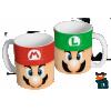 Caneca Mario Bros - Mario e Luigi - Caneca em cerâmica 325ml - Modelo 07