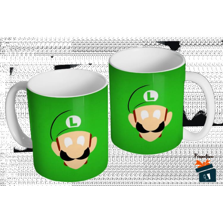 Caneca Mario Bros - Luigi - Caneca em cerâmica 325ml - Modelo 12