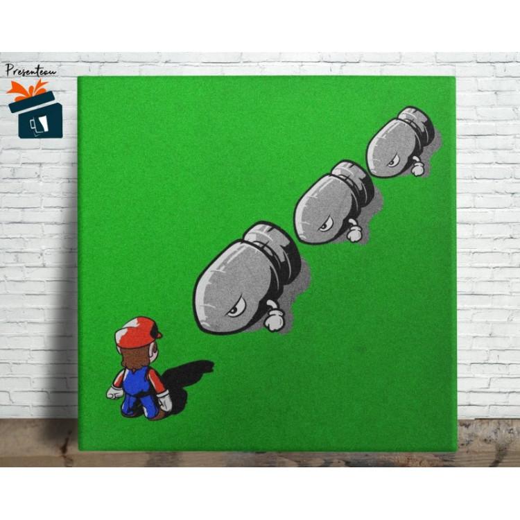 Mario Bros Quadro em Azulejo Alto Brilho - 20x20  - Modelo 07