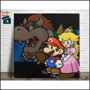 Mario Bros Quadro em Azulejo Alto Brilho - 20x20  - Modelo 08