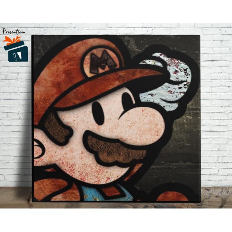Mario Bros Quadro em Azulejo Alto Brilho - 20x20  - Modelo 09