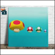 Mario Bros Quadro em Azulejo Alto Brilho - 20x20  - Modelo 11