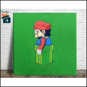 Mario Bros Quadro em Azulejo Alto Brilho - 20x20  - Modelo 12