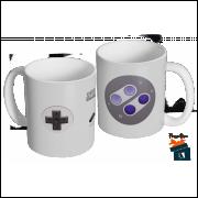 Caneca Controle Super Nintendo  - Modelo 01 em Cerâmica 325ml