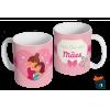 Caneca Dia das Mães Para a Mãe - Modelo 07 em Cerâmica 325ml