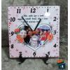 Relógio de Mesa Dia das das Mães com Foto - em Azulejo 20x20