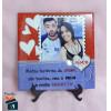 Quadro de Mesa Romântico com Foto - em Azulejo 20x20cm
