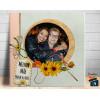Quadro de Mesa Dia das Mães com Uma Foto - em Azulejo 20x20cm