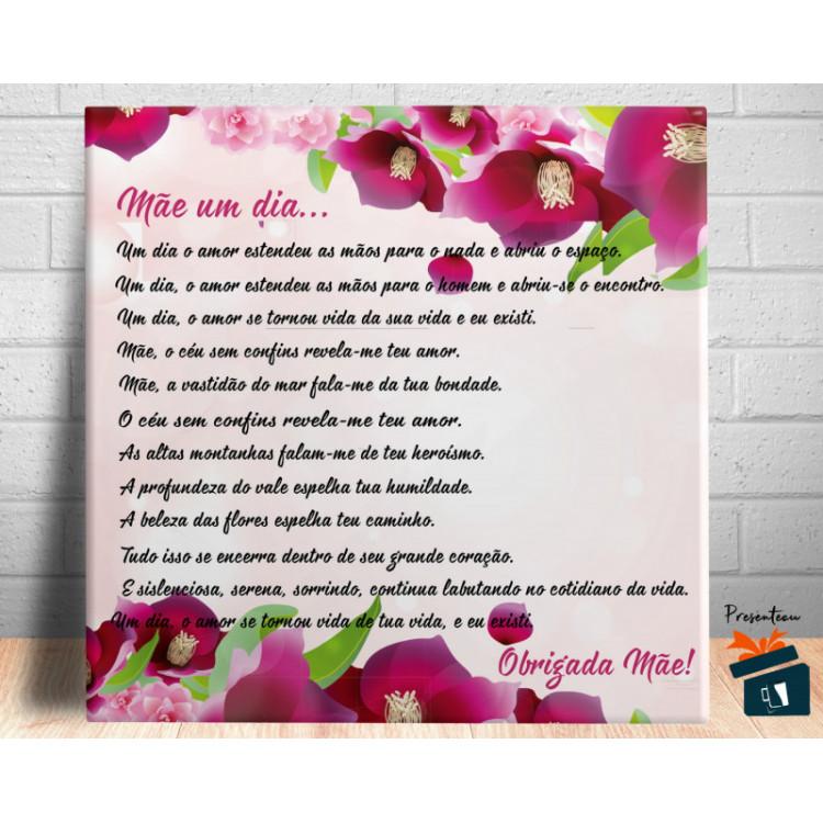 Quadro de Mesa Dia das Mães com Mensagem - em Azulejo 20x20cm