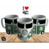 Caneca Kombi Palmeiras - Personalizada com Seu Nome - Cerâmica 325ml