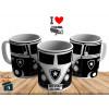 Caneca Kombi Botafogo - Personalizada com Seu Nome - Cerâmica 325ml