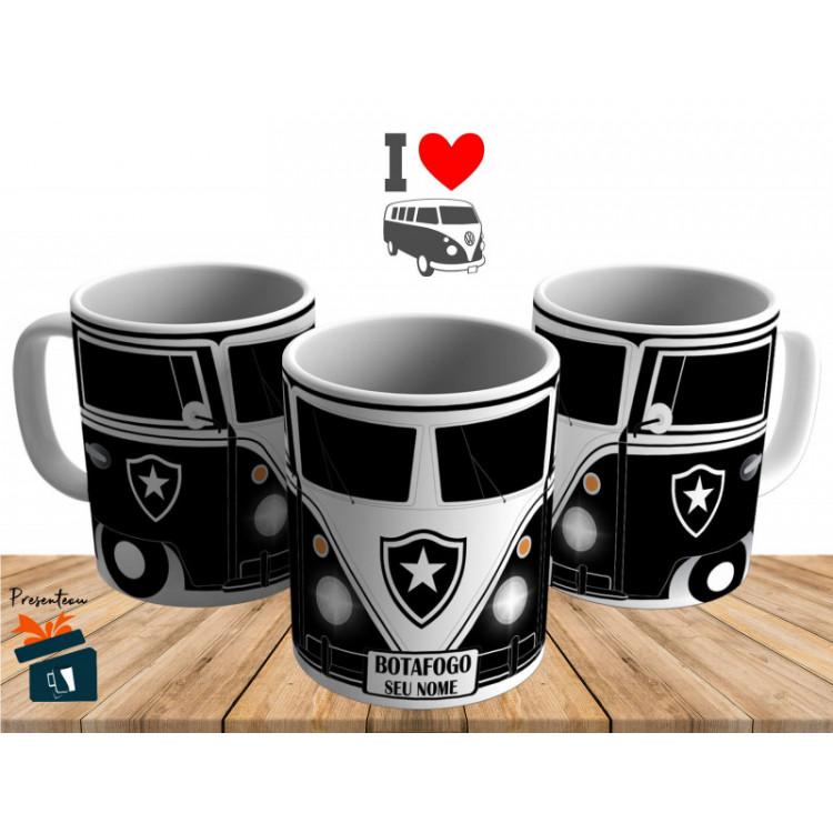 Caneca Kombi Botafogo - Personalizada com Seu Nome - Cerâmica 325ml 0c1ad74e5b7