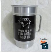 Caneca de Chopp Corinthians em Alumínio 1999 Sangue no Olho - 600ml