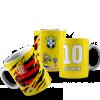 Caneca Flamengo/Brasil Escudo - Personalizada Cerâmica 325ml