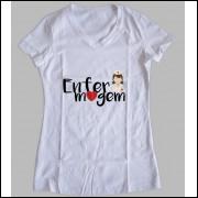Camiseta ou Babylook Profissão Enfermagem Feminina