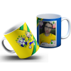 Caneca Brasil/ Figurinha Álbum da Copa 2018 - Com sua Foto 01