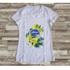 Camiseta ou Babylook Brasil Copa do Mundo 2018 Feminina Modelo 02