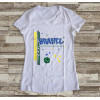 Camiseta ou Babylook Brasil Copa do Mundo 2018 Feminina Modelo 05