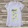 Camiseta ou Babylook Brasil Copa do Mundo 2018 Feminina Modelo 07