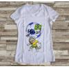 Camiseta ou Babylook Brasil Copa do Mundo- Mascote da Copa 2018 Feminina Modelo 09