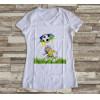 Camiseta ou Babylook Brasil Copa do Mundo- Mascote da Copa 2018 Feminina Modelo 13