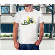 Camiseta Unissex Brasil Copa do Mundo 2018 Modelo 08
