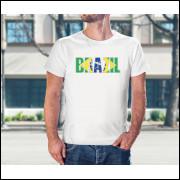 Camiseta Unissex Brasil Copa do Mundo 2018 Modelo 11