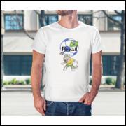 Camiseta Unissex Brasil Copa do Mundo 2018 mascote da Copa Modelo 12
