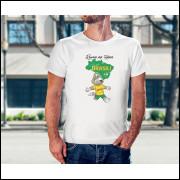 Camiseta Unissex Brasil Copa do Mundo 2018 mascote da Copa Modelo 13