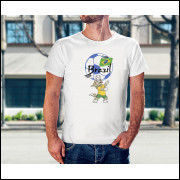 Camiseta Unissex Brasil Copa do Mundo 2018 mascote da Copa Modelo 14