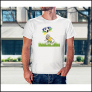 Camiseta Unissex Brasil Copa do Mundo 2018 mascote da Copa Modelo 15