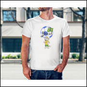 Camiseta Unissex Brasil Copa do Mundo 2018 mascote da Copa Modelo 16
