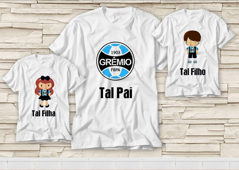 d2a3586b260187 Dupla de Camiseta Dia dos Pais - Tal Pai. Tal Filho(a) Grêmio