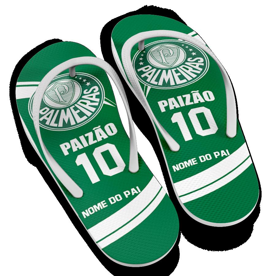 10ade8e32 Chinelo Dia dos Pais Time do Palmeiras Paizão 10 Personalizado
